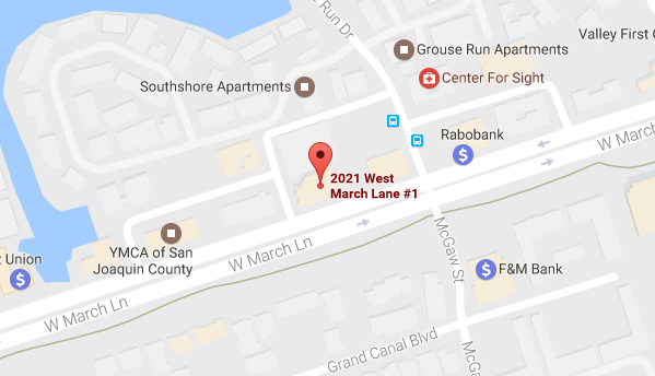 Map showing Stockton office location